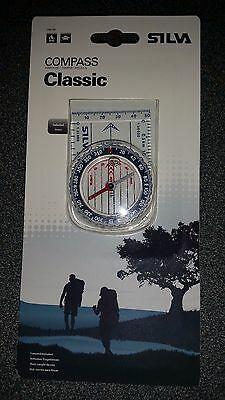 SILVA CLASSIC COMPASS - NEW - GENUINE SILVA  - PACKAGED - 123 SYSTEM