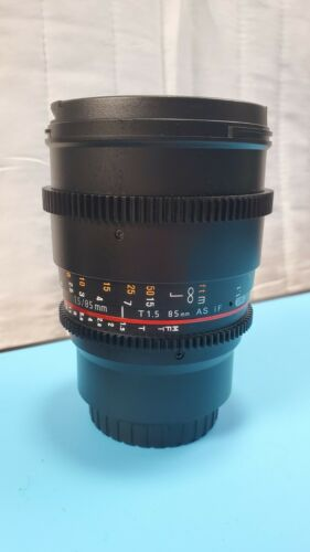 Rokinon 85mm T1.5 Cine DS Aspherical Lens For Micro Four Thirds NICE - $199.00