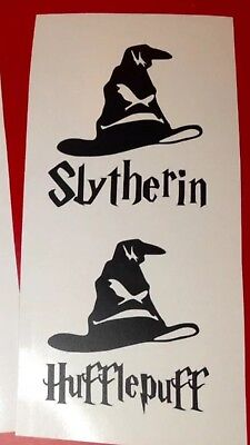 Harry potter  Set Of 4 House Vinyl Decal Wine Glass Sticker BOTTLE NOT INCLUDED