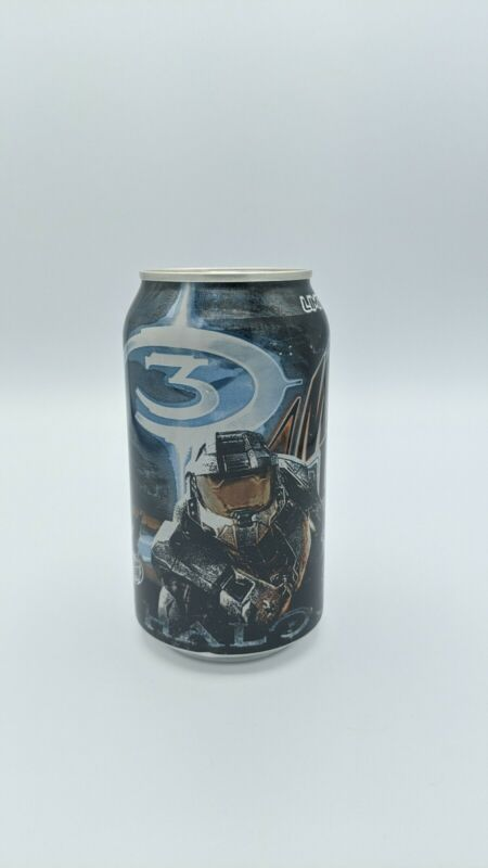 Halo 3 Limited Edition Game Fuel Mountain Dew Can Unopened Collectible