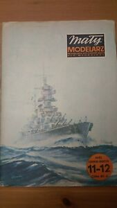 1/300 Scale Italian Battleship Vittorio Veneto Paper Model Maly Modelarz