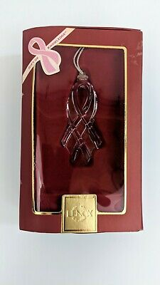Lenox Gift Of Knowledge Breast Cancer Awareness Christmas Ornament 2008 -