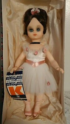 """Vtg Greek 14 1/2"""" doll by Kehagias made in Greece New Old Stock In Original Box"""