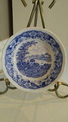 VINTAGE Silverdale Sauce Bowl Small Dish HANLEY ENGLAND Blue & White Floral Sauce Dish Bowl