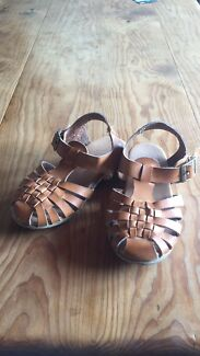 Girls tan sandals- size 10