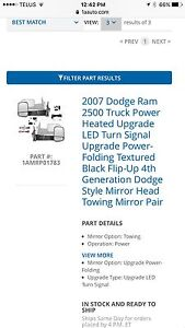 Dodge Ram Power Folding Mirrors with Turn Signals