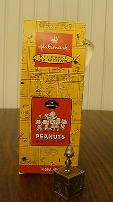 Hallmark Peanuts Gallery Five Decades Of Snoopy W/Box & Certificate Of Authent.