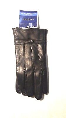 West Loop Womens Leather Lined Black Winter Gloves NWT insulation (West Loop Leather)
