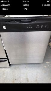"""24"""" kenmore stainless steel dishwasher works perfectly"""