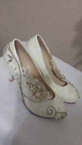 Wedding shoes size 7 ($75 or $60)