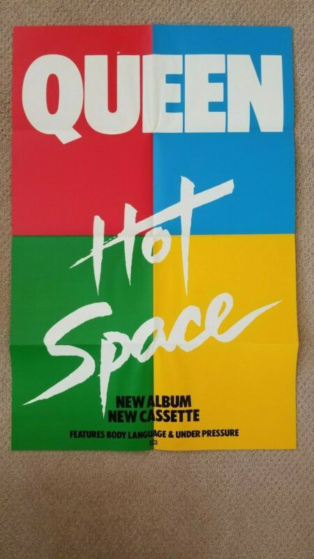 Queen Hot Space UK promo poster 1982 Rare. Free shipping