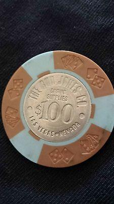 The Bud Jones Co. Company Casino Chip $100 Las Vegas Vintage Sample