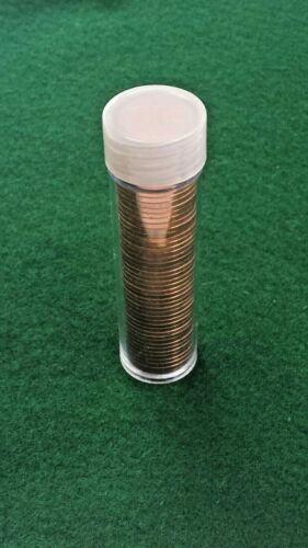 1963 Canada 1 cent Penny coins FULL ROLL TUBE of 50 BRIGHT BU UNCIRCULATED