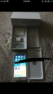 IPhone 6 Plus Unlocked Silver White with Everything