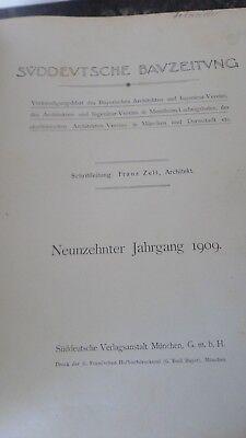 Süddeutsche Bauzeitung Jahrgang 1909 komplett