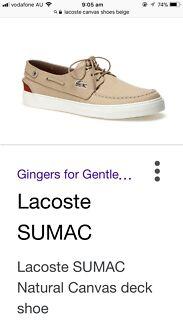 Lacoste SUMAC Natural Canvas deck shoes