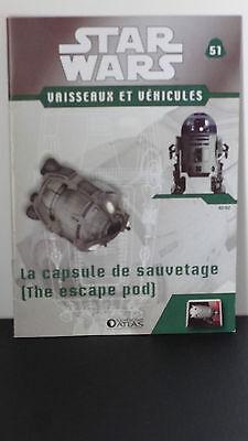 Star Wars -La capsule de sauvetage  - N°51- 2009 - neuf - Atlas