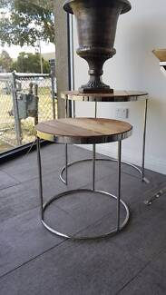 NEW STOCK - HILLARY SET OF 2 SIDE TABLES