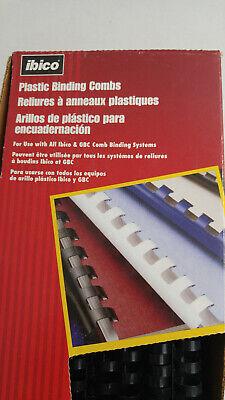 Ibico 58 Plastic Binding Combs Box Of 100 Pieces Black