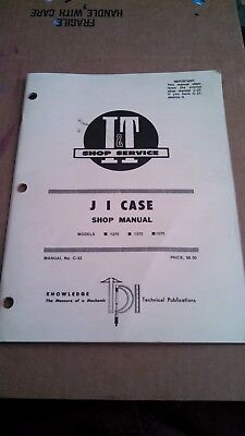 Case 1270 1370 1570 Tractor It Service Shop Manual New Old Stock