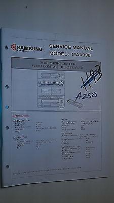 Samsung max330 service manual original repair book stereo mini system radio - Samsung Mini Systems