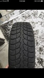 185/60R14 5x100 snow tires mint condition