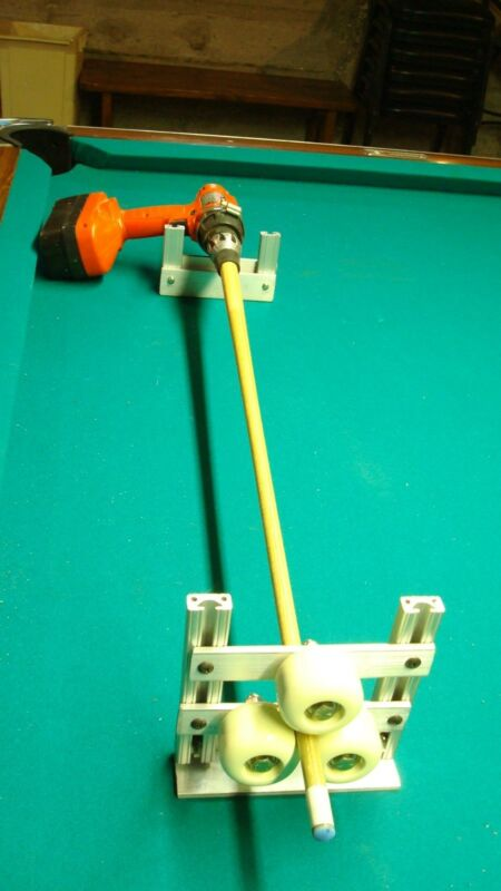 drill / motor lathe attachment to repair pool cues + Manual how to repair Cues