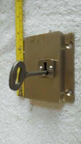 VINTAGE ANTIQUE Industrial Steampunk Style Lock w/ Key