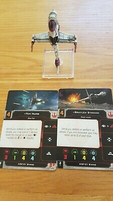 Star Wars x-wing miniatures 2nd edition B-Wing Ace Ship & Pilot Cards