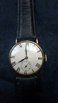 Ebel Solid Gold 9Ct Vintage Watch RARE