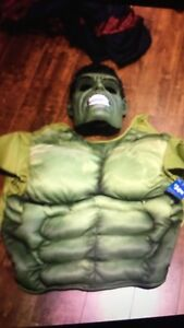 Hulk costume men's large mask and top bnwt