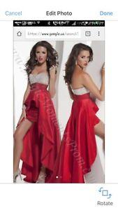 Sexy red peplum dress - brand New - never worn