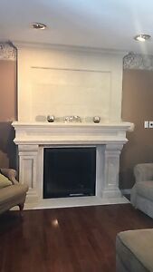 **SALE** STONE CAST FIREPLACE MANTELS GAS AND ELECTRICAL