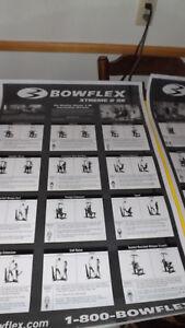 BOWFLEX POSTER XTREME''2SE,XTREME''2,XTREME''SE LAMINATED/SIDE BY SIDE