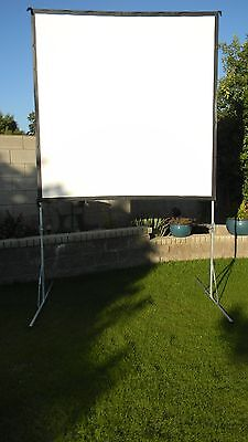 Draper Cinefold 7x7 119 Outdoor Projector Screen Portable W Case Open Air