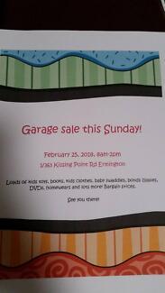 Garage sale this sunday