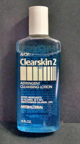 Vintage NOS AVON Clearskin 2 Astringent Cleansing Lotion, Benzethonium, 8 Ounces