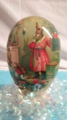 "NEW 4.5"" German Paper EASTER EGG-NESTLER-Rabbits Dyeing Eggs-EX/C"