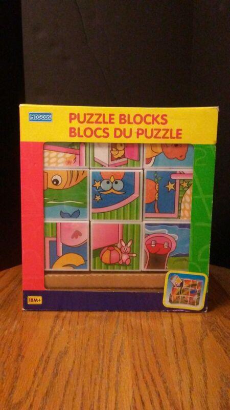 (195) MEGCOS Puzzle Blocks 18+ Months