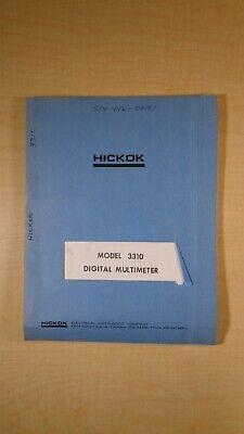Hickok Model 3310 Digital Multimeter Instruction Manual 7e B2