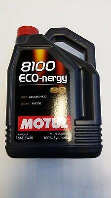 102898 Motul 8100 ECO-NERGY 5W30 100% Synthetic Performance Engine Oil (5 Liter), usado comprar usado  Enviando para Brazil
