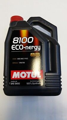 102898 Motul 8100 ECO-NERGY 5W30 100% Synthetic Performance Engine Oil (5 Liter) comprar usado  Enviando para Brazil