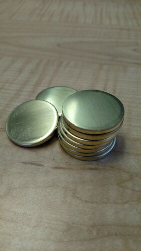 """10 Gauge 3"""" Brass Disc"""