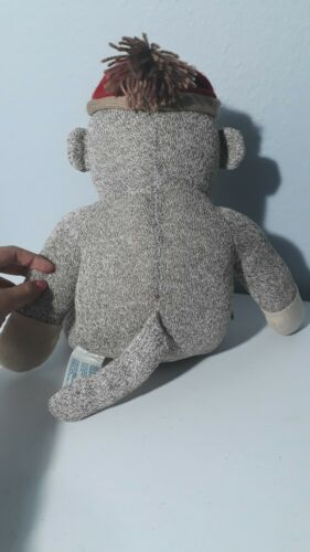 Sock Monkey Build A Bear With Heart On Chest 18  - $19.99