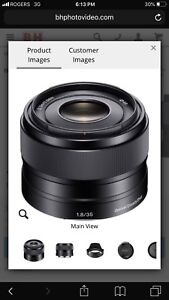 LOOKING FOR: Sony 35mm f1.8 E-Mount Lens