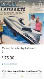 Battery powered Inflatable water scooter