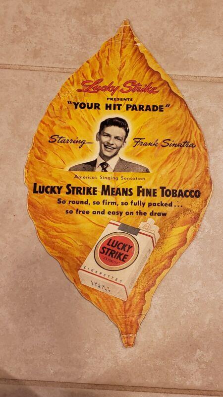 Rare Frank Sinatra LUCKY STRIKE Tobacco Leaf Signed FAN Club Member Card
