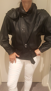 Leather Jacket - Vintage Classic 80's Murrumbeena Glen Eira Area Preview