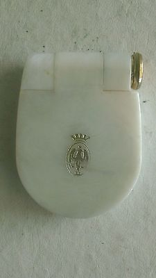 Vintage Coty Compact Duette-Powder & Lipstick Cosmetics-Faux Mother of Pearl