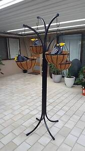 Metal hanging basket frame with four hangers and four baskets Bethania Logan Area Preview